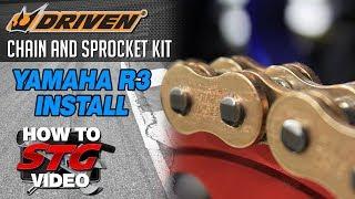 15-17 Yamaha R3 Motion Pro Chain Tools & Driven Chain & Sprocket Install | Sportbiketrackgear.com