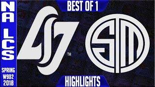 GLG vs TSM Highlights | NA LCS Week 9 Spring 2018 W9D2 | CLG vs Team Solomid Highlights 2