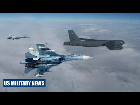 Two Russian Fighter Jet Intercepts US B-52H Bomber Over Baltic