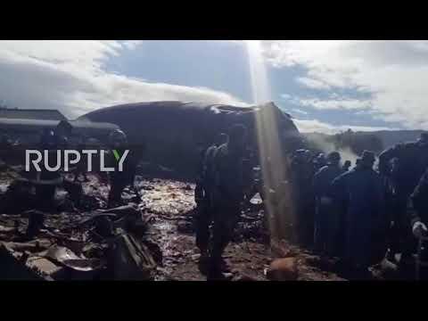 Algeria: Emergency operations underway as plane crash reportedly kills 181