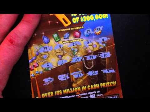 "PA Lottery ""$300,000 Buried Treasure"" $10 Tickets ***Good Win***"