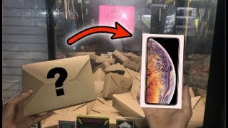 WON iPhone XS MAX from MYSTERY BOX CLAW MACHINE!!! | JOYSTICK