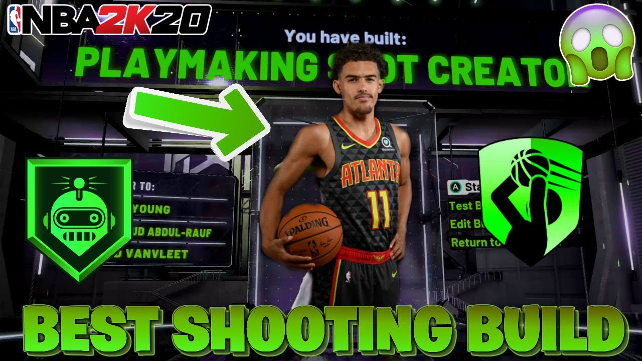 BEST SHOOTING BUILD NBA 2K20, INSANE 3 POINT SHOT (Similar to Trae Young)