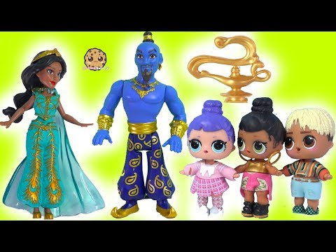Magic Genie Grants Wishes - LOL Surprise + Disney Aladdin with Blind Bags