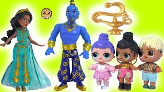 Magic Genie Grants Wishes - LOL Surprise + Disney Aladdin with Blind Bags Video