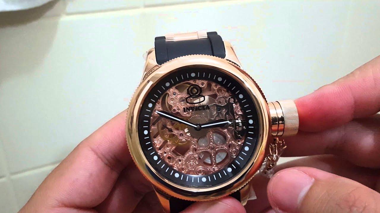 7775df8f41d Relógio invicta corda manual ref 1090 - YouTube