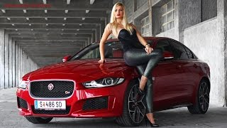 Hot GIRL DRIFTS Jaguar XE Supercharged - PURE SOUND, DRIFTED HARD