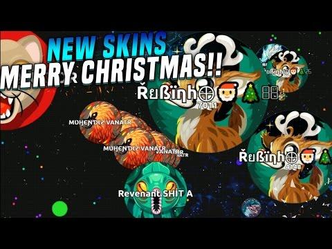 MI MAYOR CABREO!! NEW SKINS Merry Christmas | Agar.io | Rubinho vlc