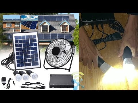 Solar Power Panel USB Charging LED Light with Fan Kit for Home Outdoor Camping REVIEW