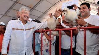 Entrega de 'Crédito Ganadero a la Palabra', desde Candelaria, Campeche.