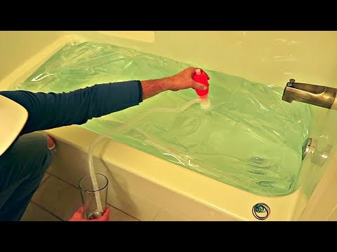 100 Gallons Emergency Water in Bath Tub!