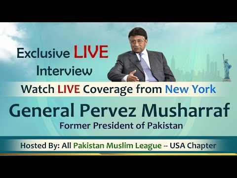 Exclusive LIVE - General Pervez Musharraf - APML-USA Media Outreach Event Oct 9 2016