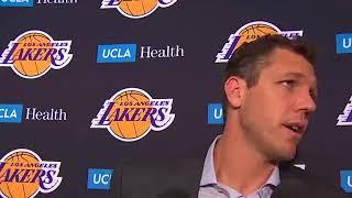 Luke Walton Postgame Interview / LA Lakers vs GS Warriors