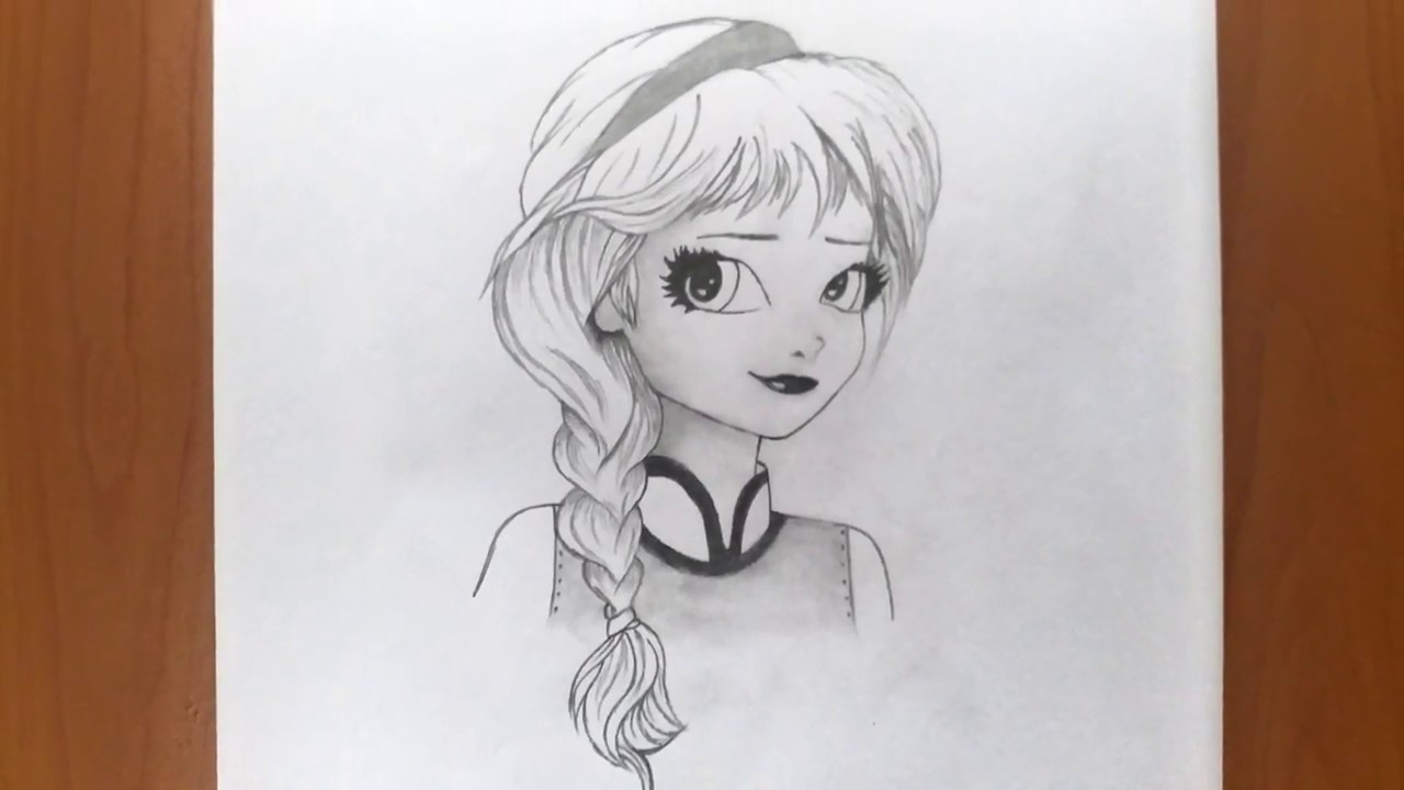 How To Draw A Cartoon Girl Face Easy Drawing A Cartoon Girl