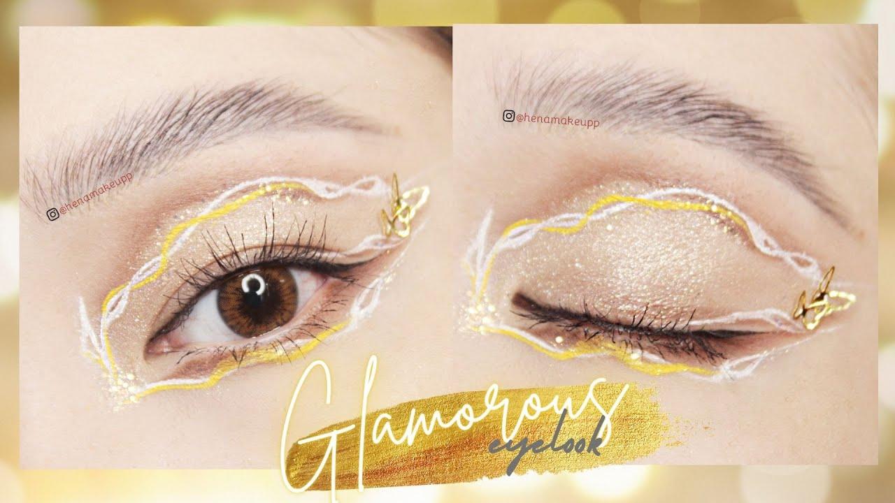 GLAMUROUS eyelook 💫 Trang điểm mắt uốn lượn độc lạ 💫 Colourpop Nude mood