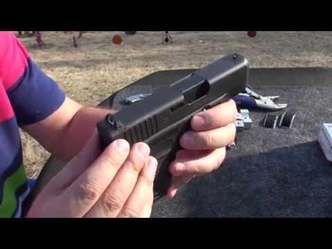 Como Cambiar las Miras de una Pistola, Glock, Smith & Wesson, en Español
