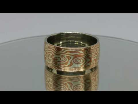 The ONE of HARMONiC Silver and copper Mokume Gane ring