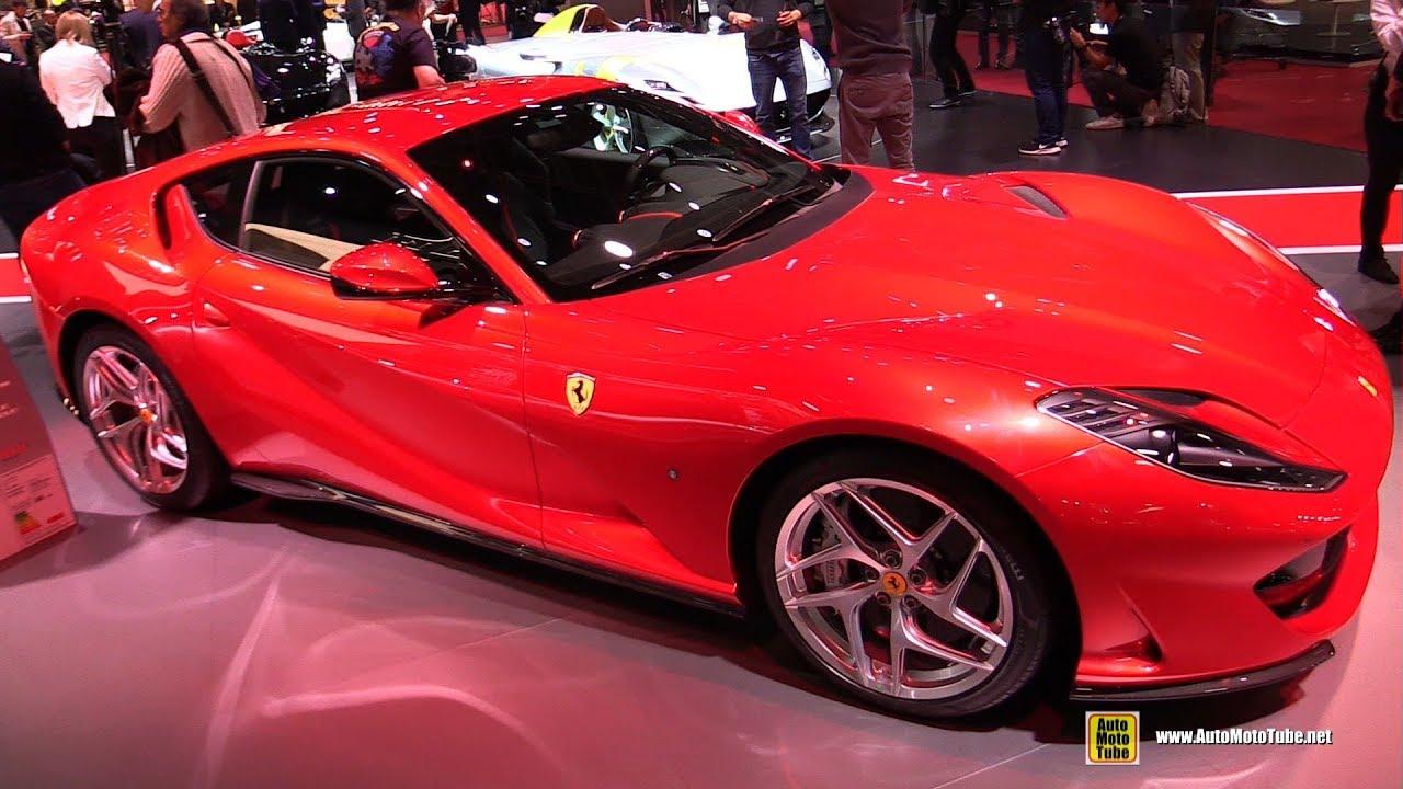 2019 Ferrari 812 Superfast Exterior And Interior Walkaround 2018 Paris Motor Show