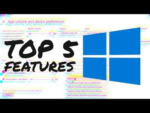 WINDOWS 10 APRIL 2018 UPDATE - Top 5 BEST NEW Windows Features, Build 1803 [SPRING CREATORS UPDATE]