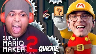 LOGIC MADE ME A LEVEL AND THIS WHAT HAPPENED.. [SUPER MARIO MAKER 2] [QUICKIE] [#01]