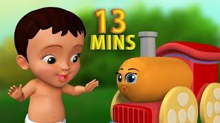 சிக்குபுக்கு சிக்குபுக்கு ரயில் வண்டி | Tamil Rhymes for Children | Infobells