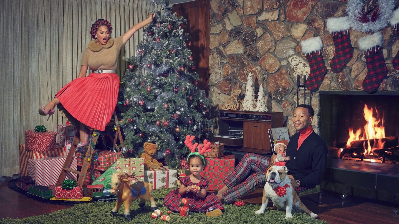 John Legend Merry Christmas Baby Give Love On Christmas Day Official Yule Log Youtube