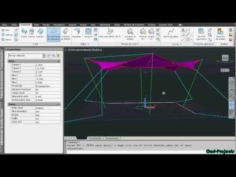 Cubiertas de lona. Modelar superficies en AutoCAD - YouTube