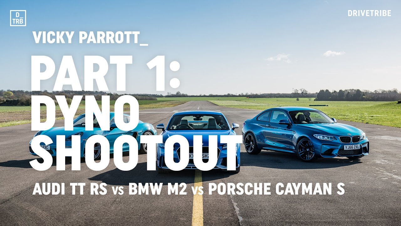 Audi TT RS vs BMW M2 vs Porsche 718 Cayman S: dyno shootout