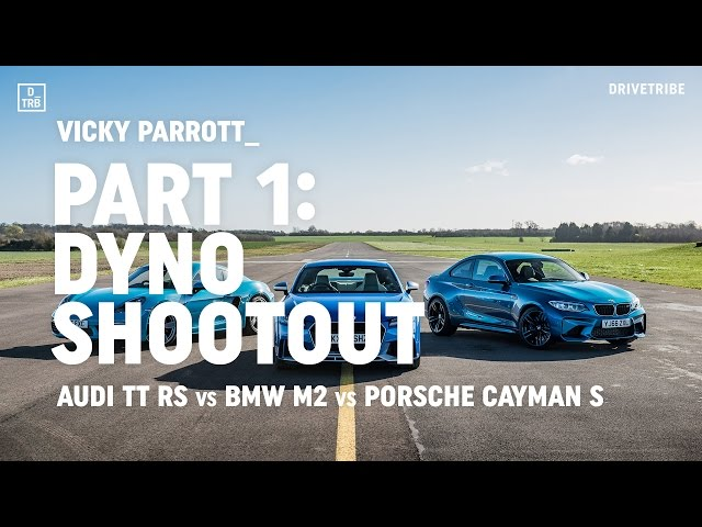Audi TT RS vs BMW M2 vs Porsche 718 Cayman S: dyno shootout