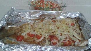 pescado zarandeado al horno