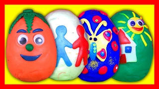 Play Doh Surprise Eggs - Opening Surprise Toys Video For Kids