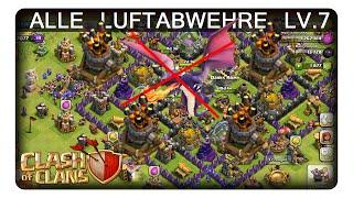 ALLE LUFTABWEHRE LV.7 || CLASH OF CLANS | Let's Play CoC | Deutsch | German