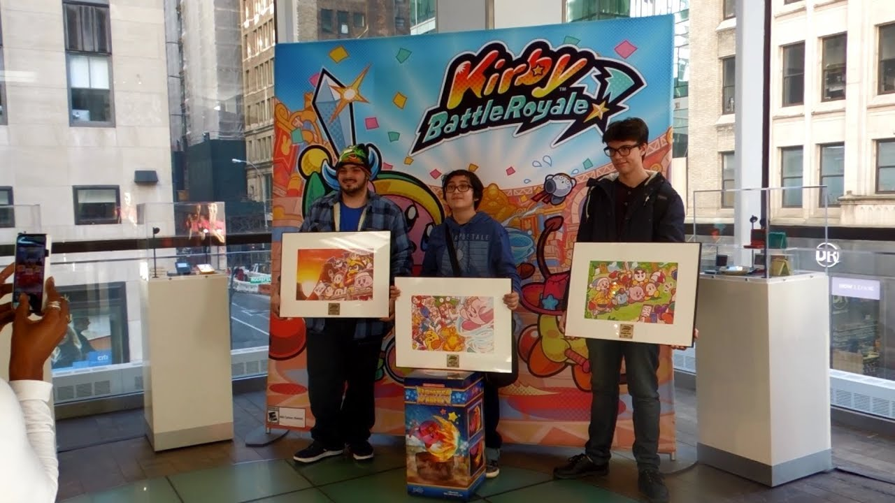 Kirby Battle Royale Tournament at Nintendo NY