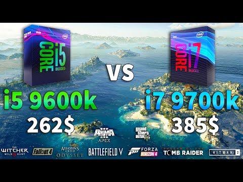 I5 9600k Vs I7 9700k Test In 9 Games