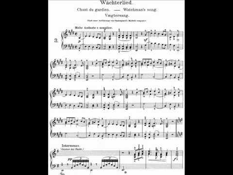 Grieg Lyric Pieces Book I, Op.12 - 3. Watchman's Song