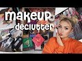 HUGE MAKEUP DECLUTTER: FOUNDATIONS, PALETTES, POWDERS, LASHES + MORE &  GIVEAWAY