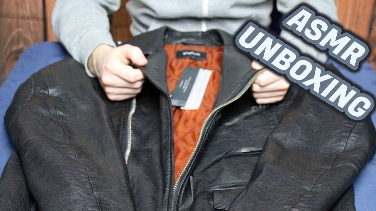 ASMR Tigha Lederjacke Unboxing #3 (GermanDeutsch)