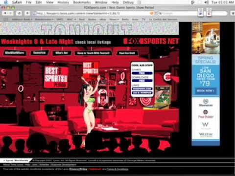 Flash Design: The Best Damn Sports Show Period Flash Website