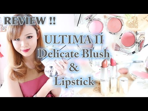ultima-ii-delicate-blush-&-lipstick-collection- -review-&-demo- -jean-milka