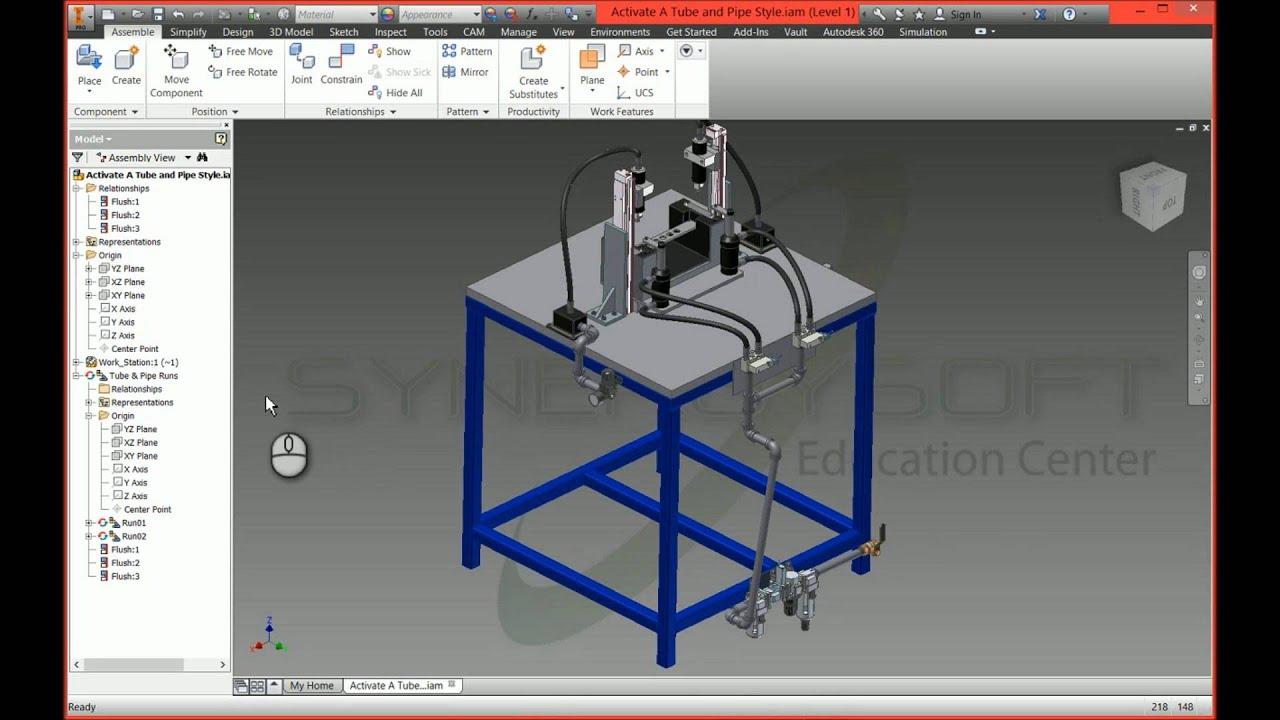 Tip & Trick Autodesk Inventor 2015 ปัญหาในการ ground tube&pipe ...