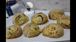 Simit Tadinda Kat Kat Çıtır Çıtır Kolay Börek Tarifi - Börek tarifleri I Rulo Simit Poğaça