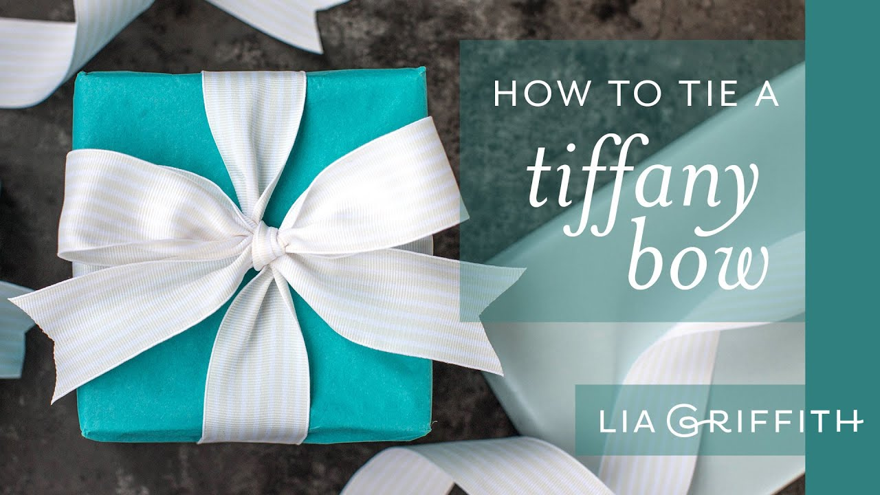How To Tie A Tiffany Bow - YouTube