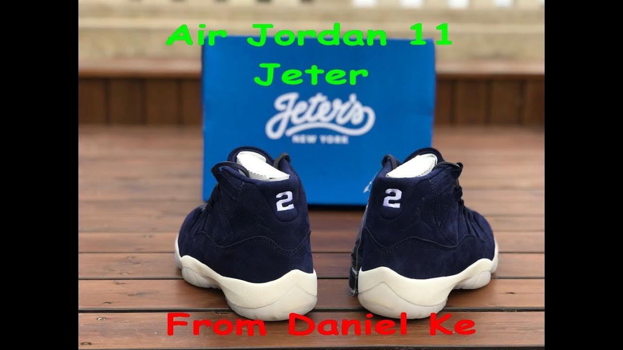 557b5f83c5f9f9 Air Jordan 11 Jeter - 351792 147 HD Review - YouTube