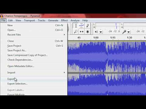 How To Convert An Audacity File Into .MP3 Using LAME