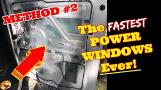 How To Make Your POWER WINDOWS Blazzzzing FAST!   Method #2