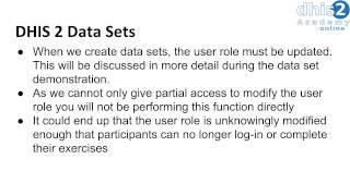 الوحدة 4 - الدورة 1 - مقدمة DHIS2 قاعدة بيانات التخصيص