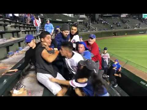 Baseball Fans Fighting Ends In Racism.
