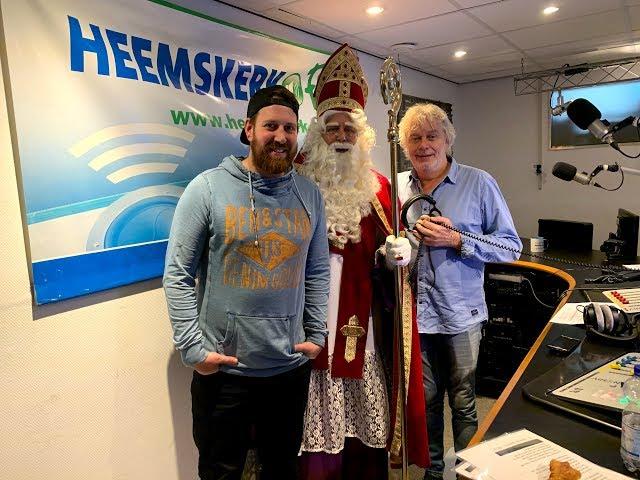 Sinterklaas bij Omroep Heemskerk