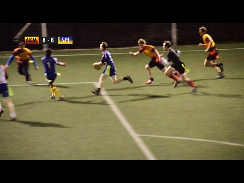 Tag Rugby Mixed Super League Round 10 (Winter 2015) - Akuma Mataggers v Speight's