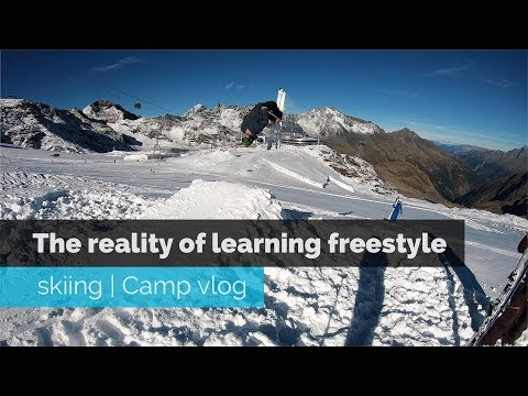 THE REALITY OF LEARNING FREESTYLE SKIING   CAMP VLOG